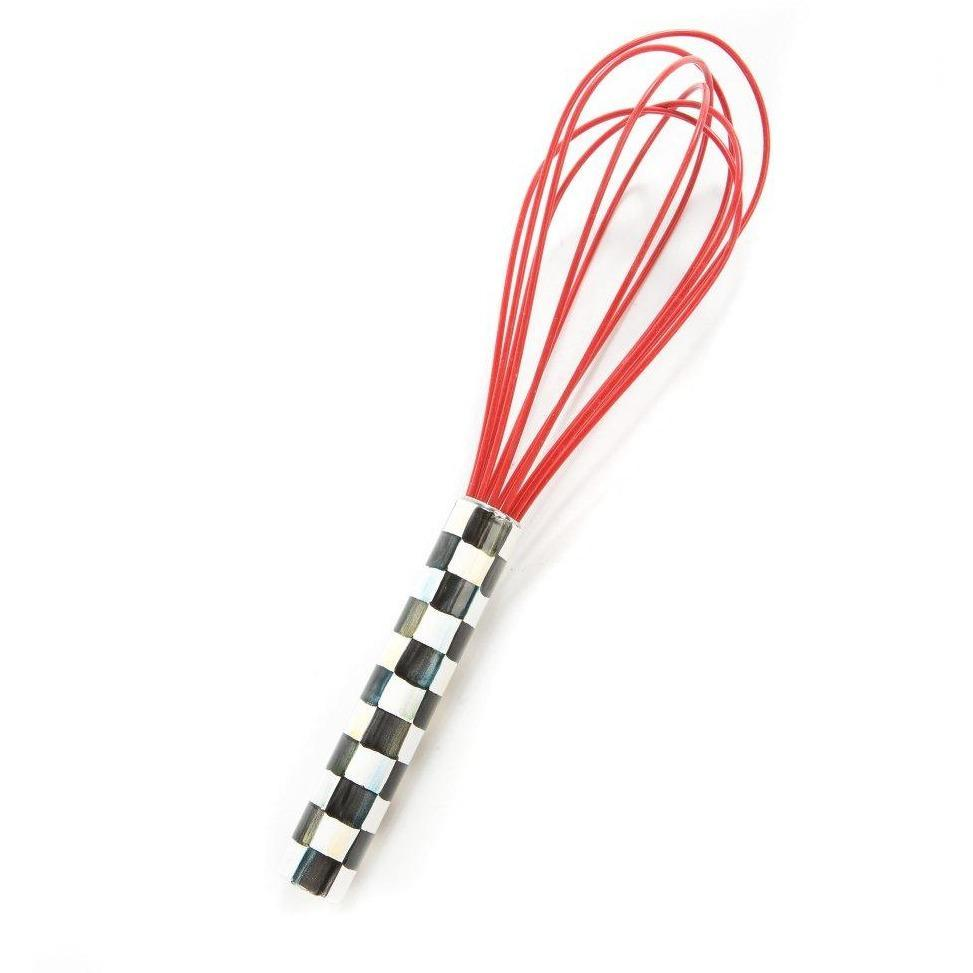 MacKenzie Childs Courtly Check Large Whisk Red