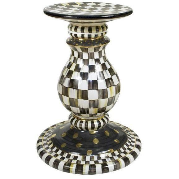MacKenzie Childs Courtly Check Pedestal Table Base