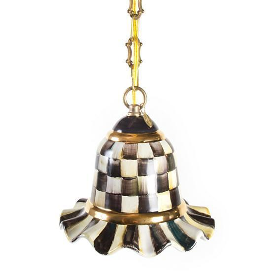 MacKenzie-Childs Courtly Check Pendant Lamp Small