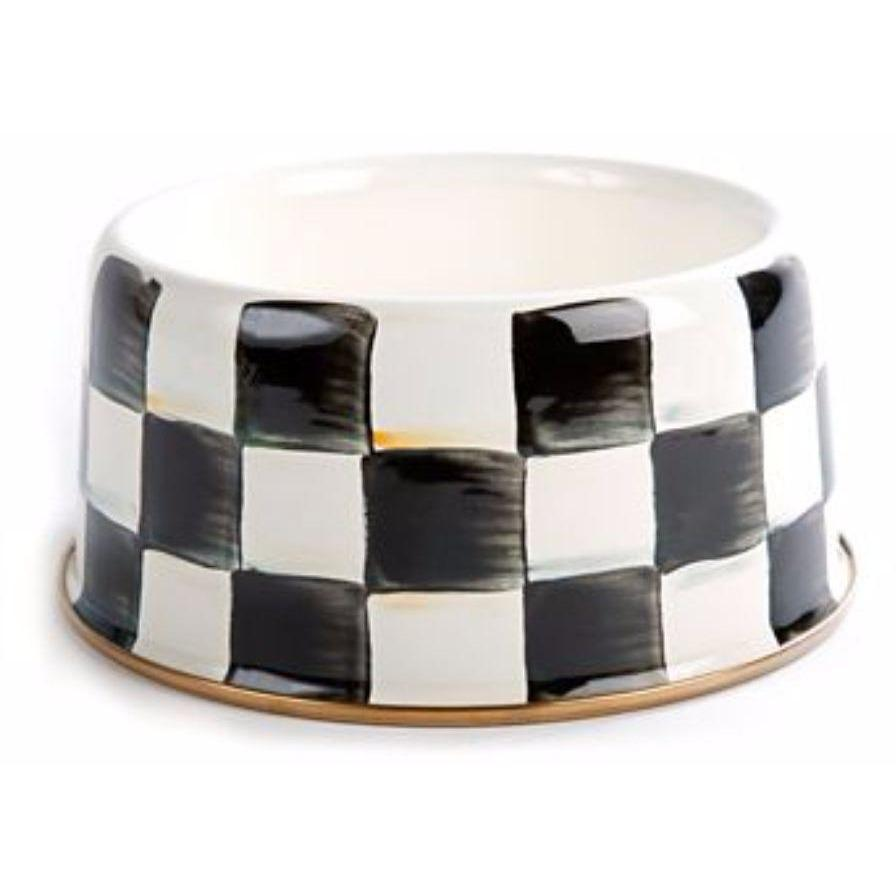MacKenzie Childs Courtly Check Pet Dish - Medium