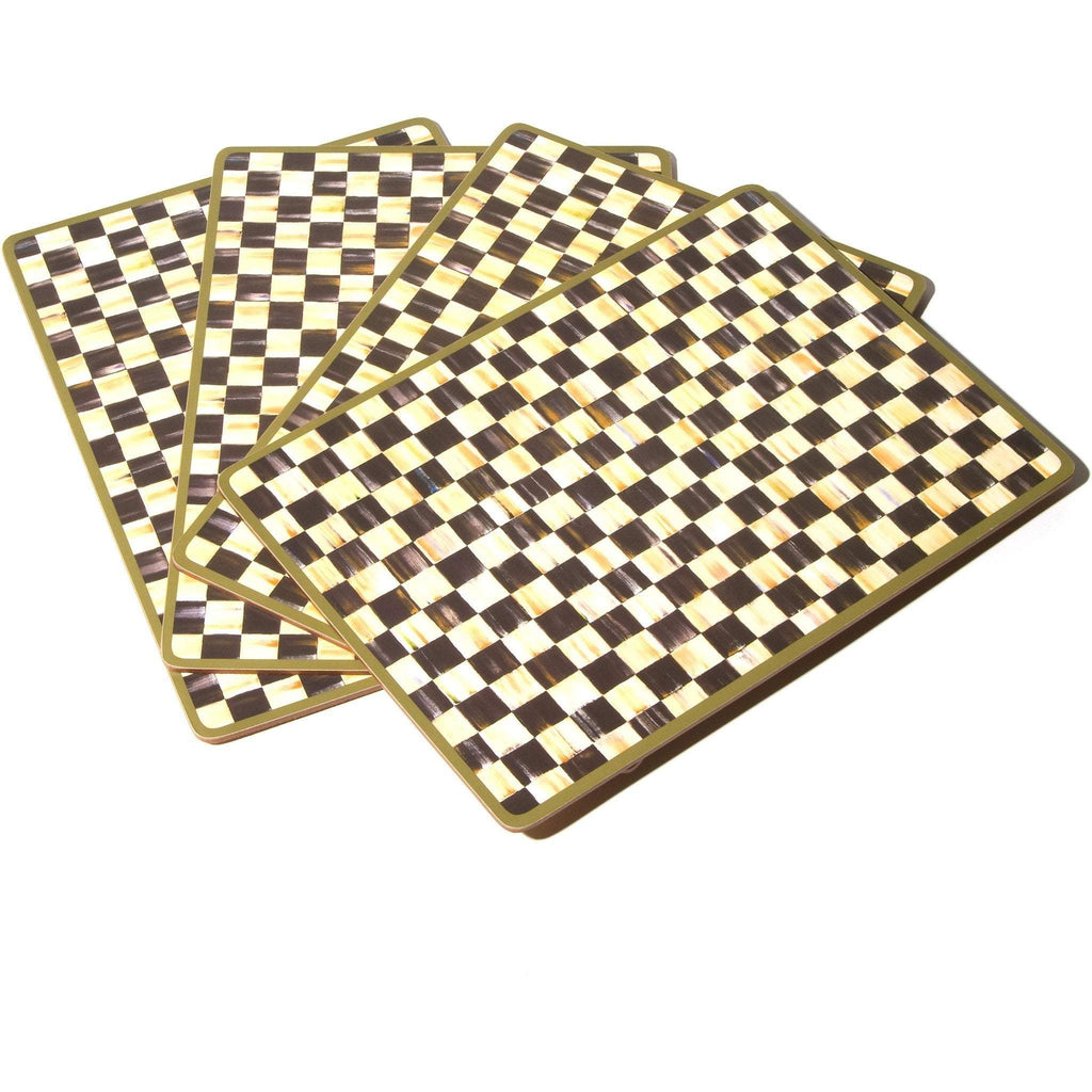 MacKenzie Childs Courtly Check Placemats Set 4