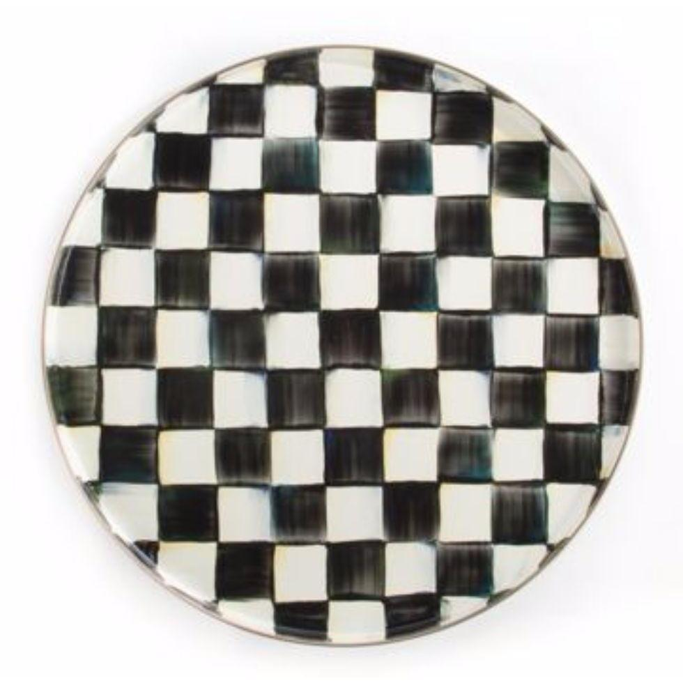 MacKenzie Childs Courtly Check Round Tray