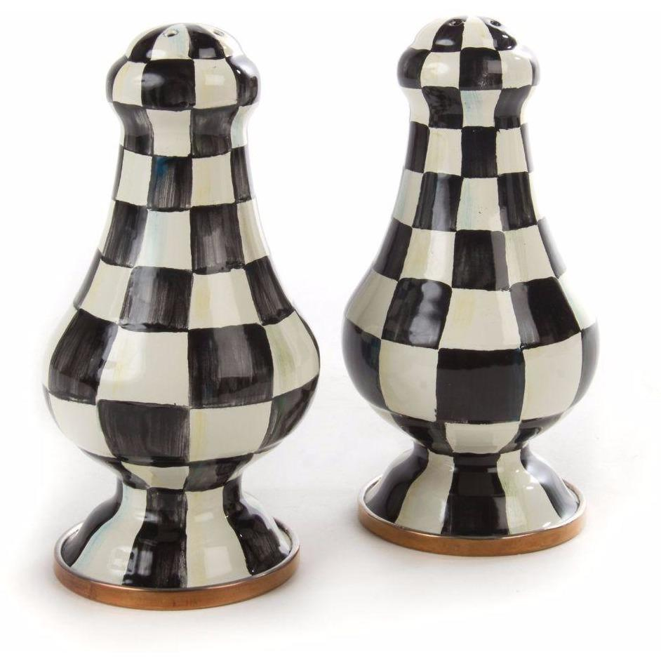 MacKenzie Childs Courtly Check Salt & Pepper Shakers Large