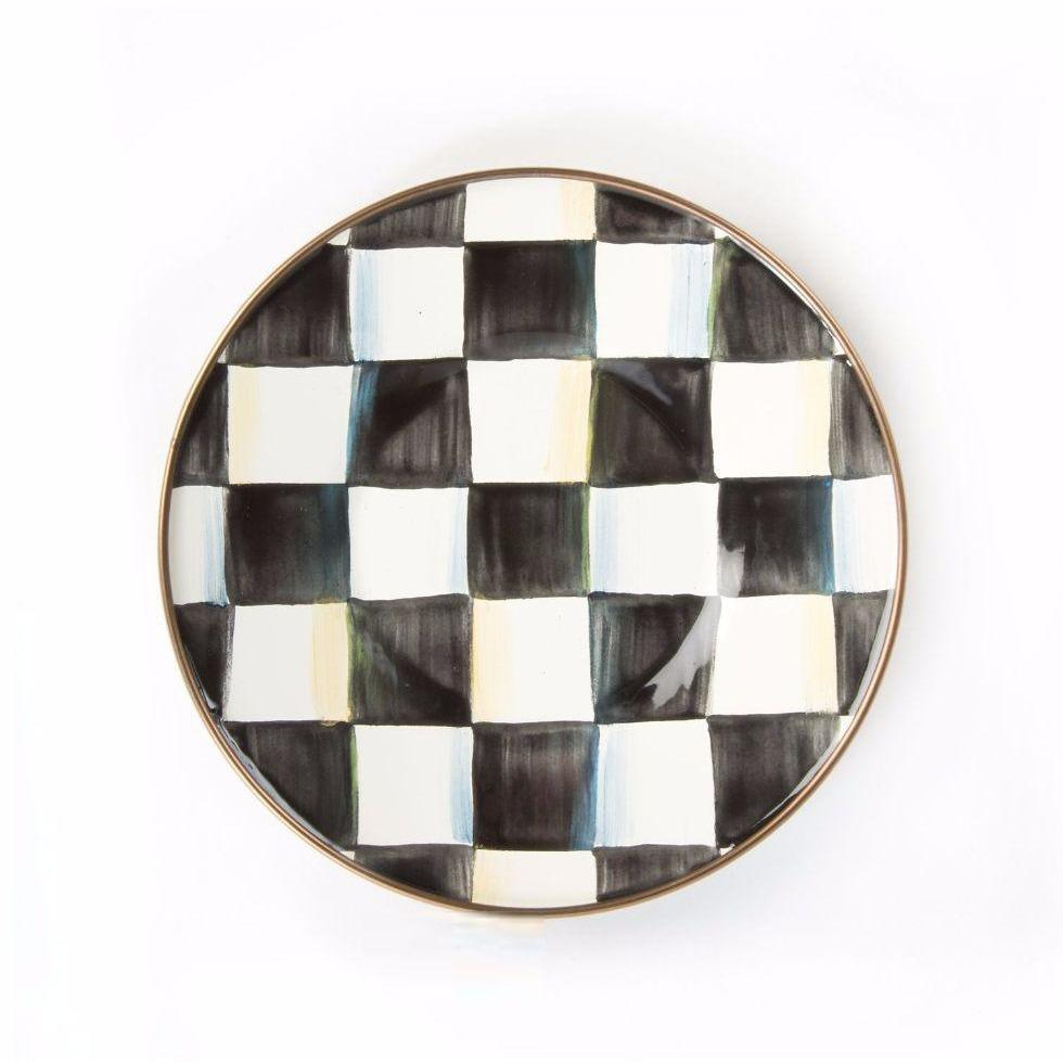 MacKenzie Childs Courtly Check Saucer