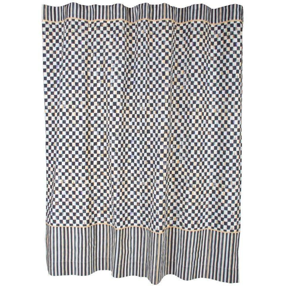 MacKenzie Childs Courtly Check Shower Curtain