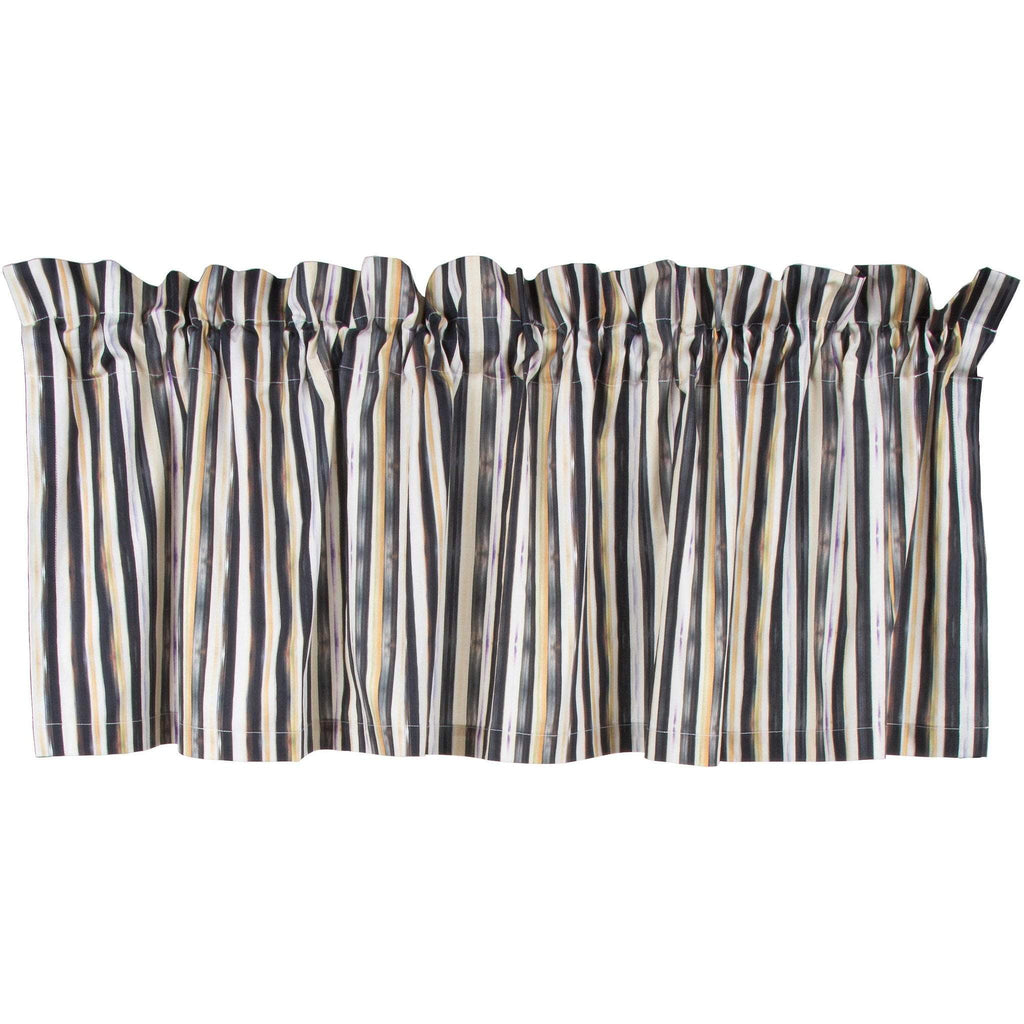 MacKenzie Childs Courtly Check Stripe Cafe Valance