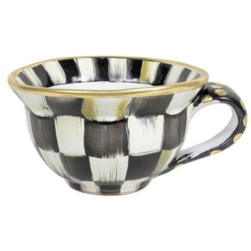MacKenzie Childs Courtly Check Tea Cup