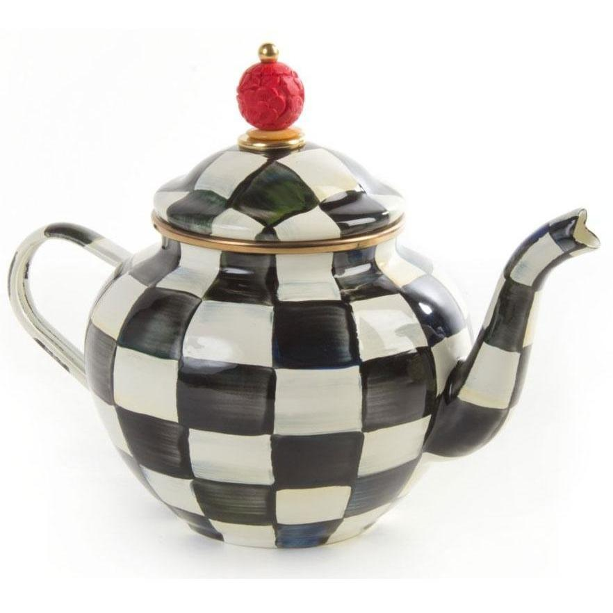MacKenzie Childs Courtly Check Teapot 4 Cup