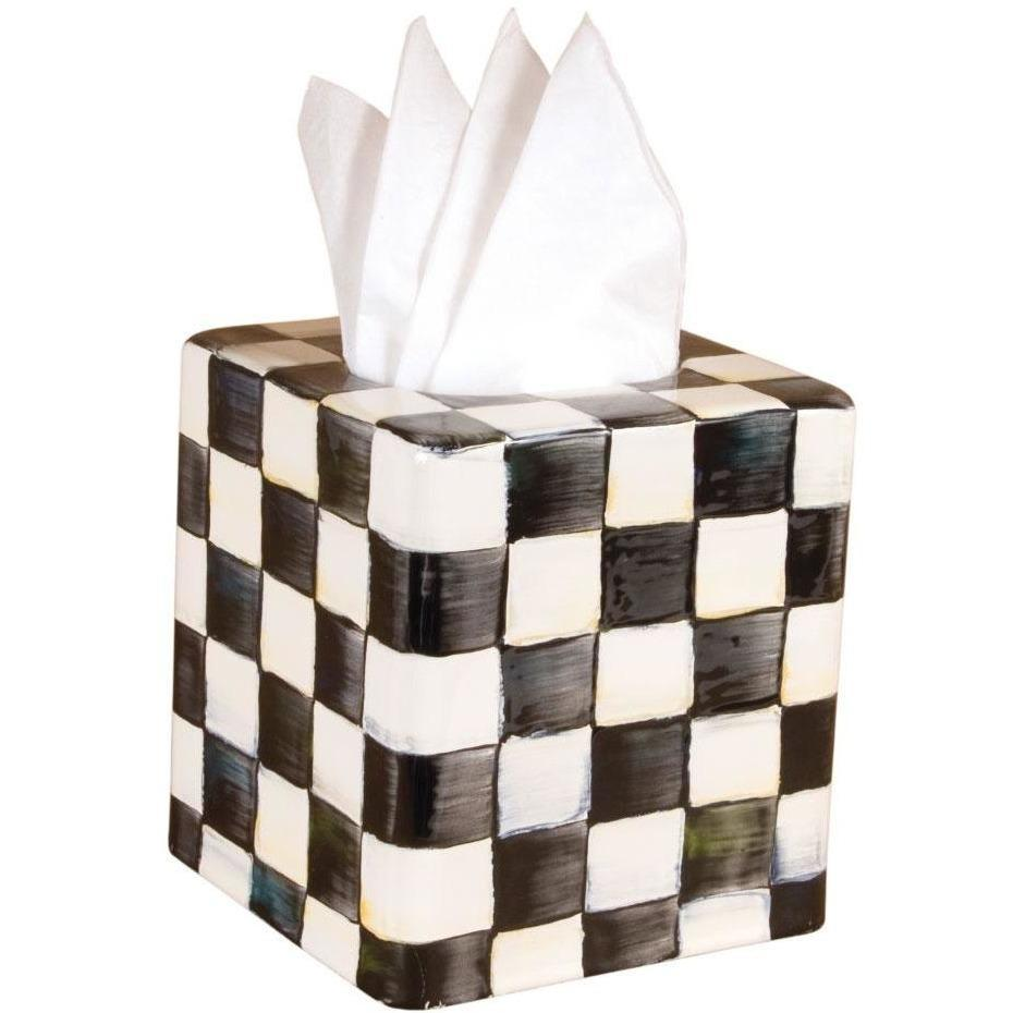 MacKenzie Childs Courtly Check Tissue Box Cover