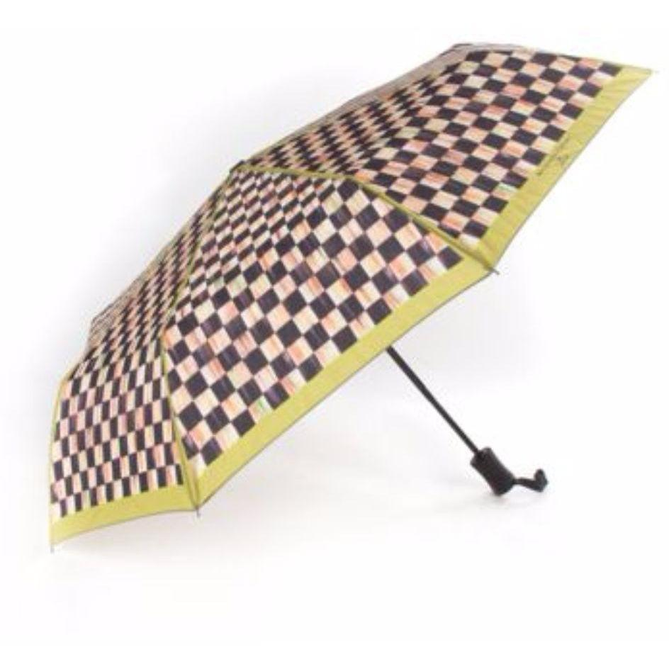 MacKenzie Childs Courtly Check Travel Umbrella