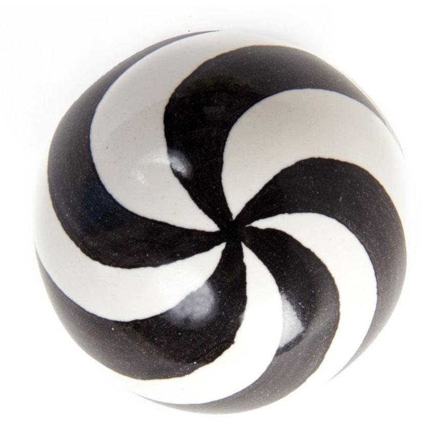 MacKenzie Childs Dot Knob Black & White