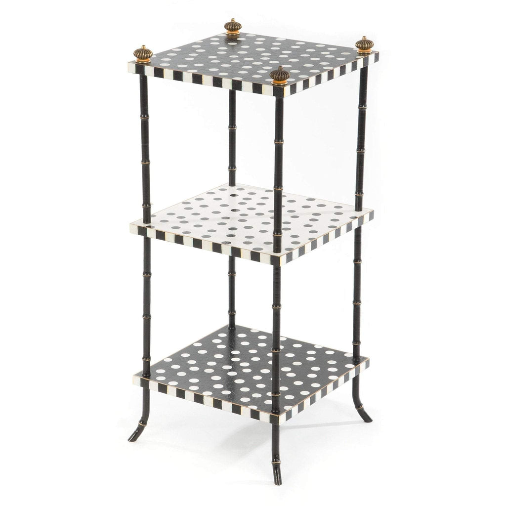 MacKenzie Childs Dot Table 3-Tier