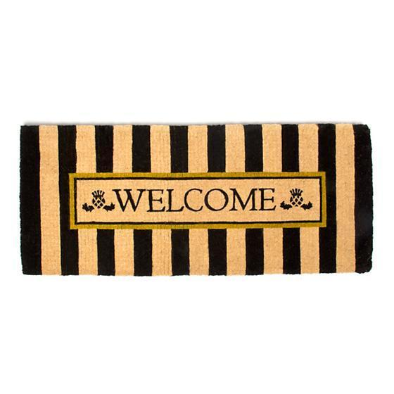 MacKenzie Childs Double Door Awning Stripe Welcome Mat