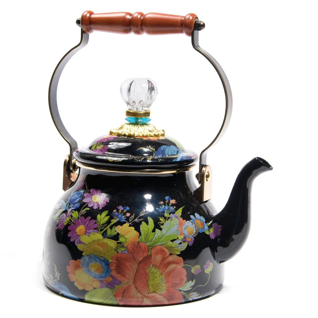 MacKenzie Childs Flower Market 2 Quart Tea Kettle