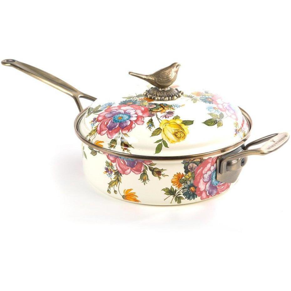 MacKenzie-Childs Flower Market 3 Quart Saute Pan