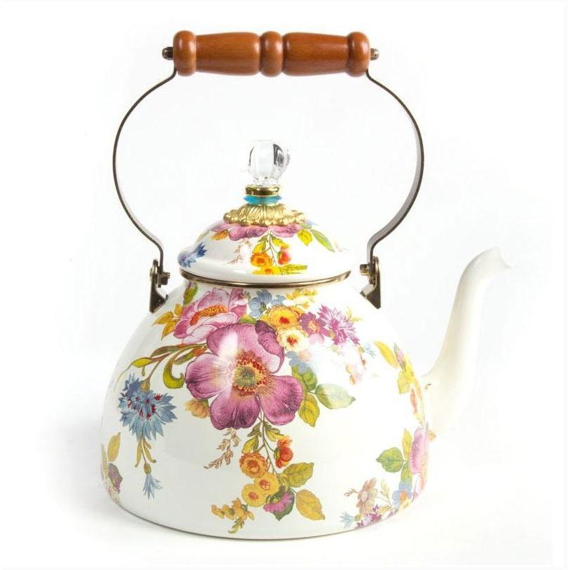 MacKenzie Childs Flower Market 3 Quart Tea Kettle