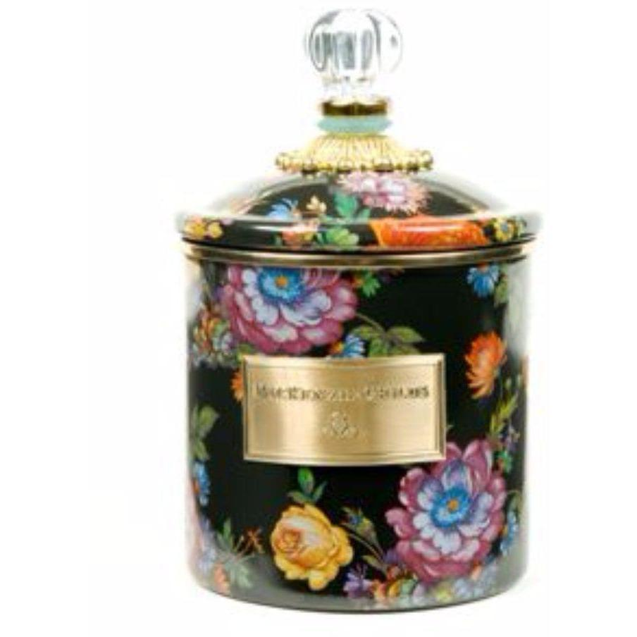MacKenzie Childs Flower Market Canister Small Black