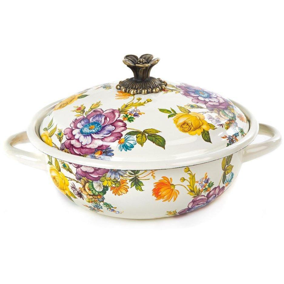 MacKenzie-Childs Flower Market Casserole Medium