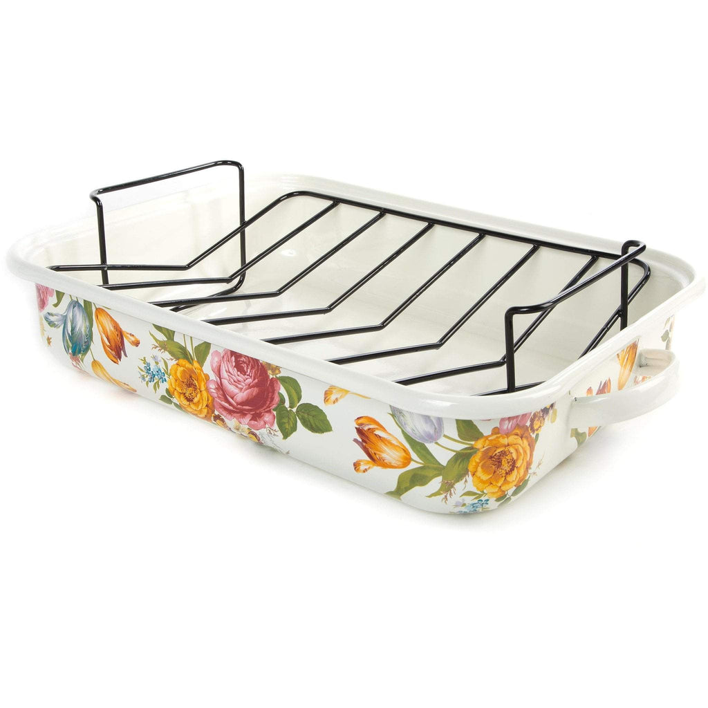 MacKenzie-Childs Flower Market Enamel Roasting Pan