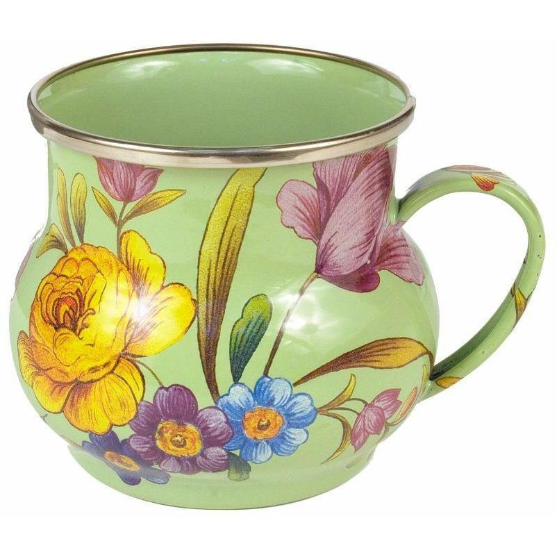 MacKenzie Childs Flower Market Mug Green