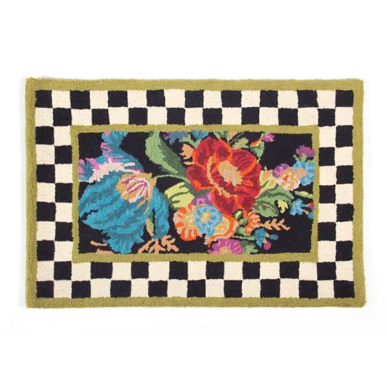 MacKenzie Childs Flower Market Rug 2 Ft x 3 Ft
