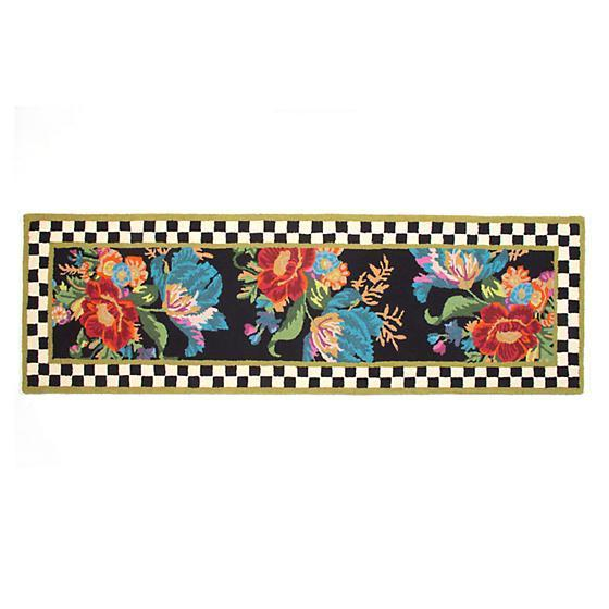 MacKenzie Childs Flower Market Runner Rug 2.6 Ft x 5 Ft