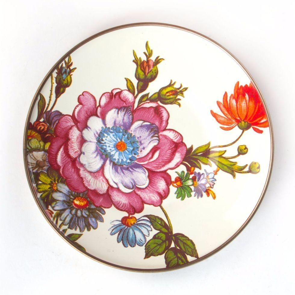 MacKenzie Childs Flower Market Saucer White