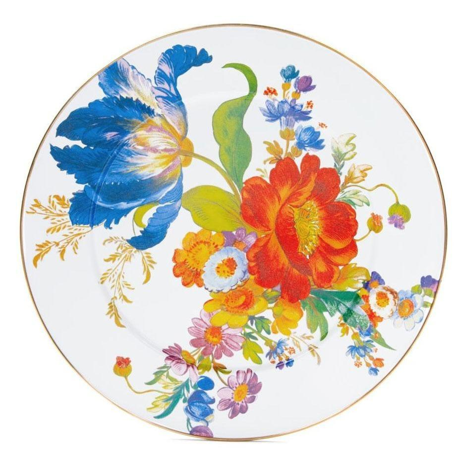 MacKenzie Childs Flower Market Serving Platter White