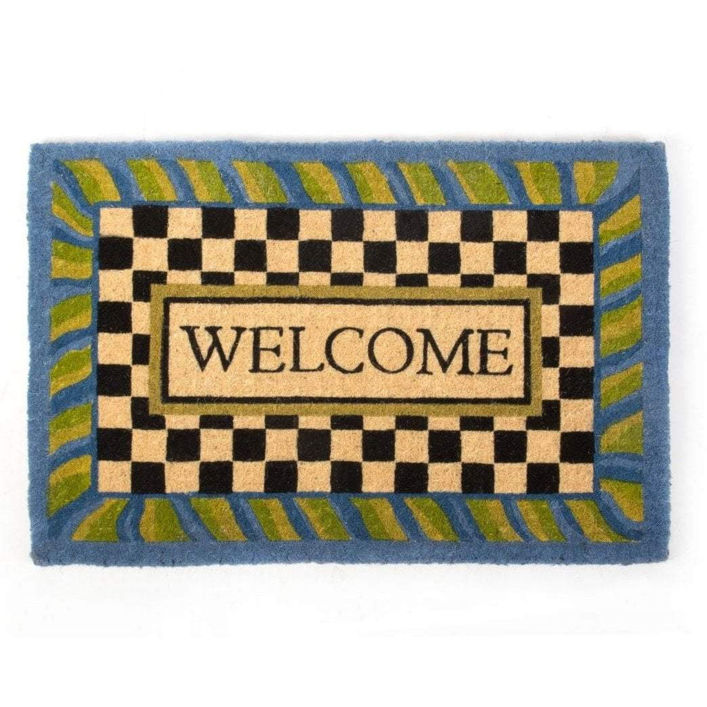MacKenzie Childs Periwinkle Welcome Mat
