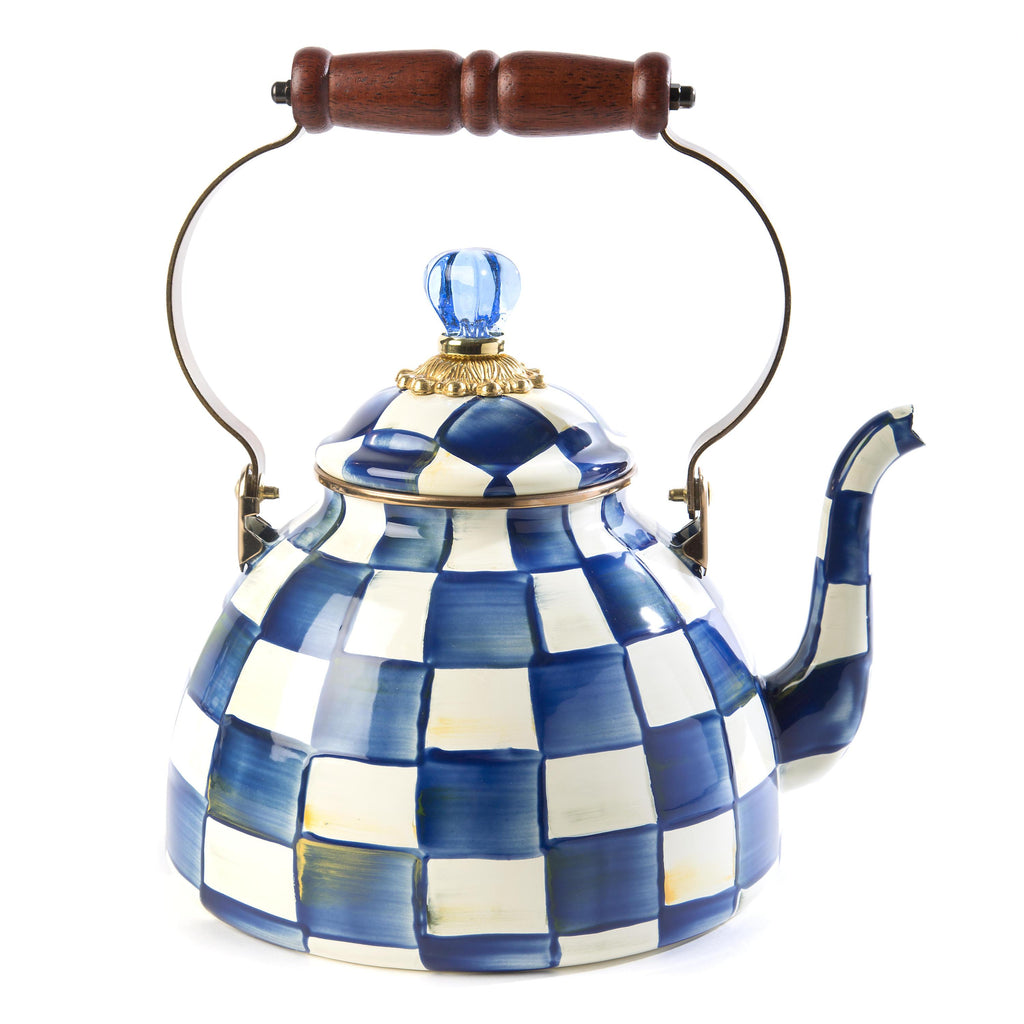 Mackenzie Childs Royal Check 3 Quart Tea Kettle 89236-240