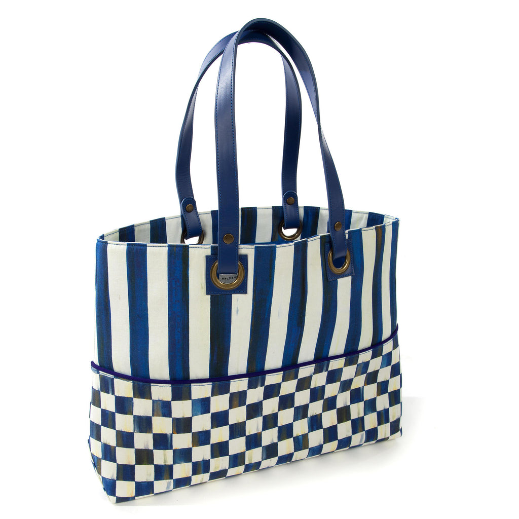 Mackenzie Childs Royal Check Bistro Tote 37696-240