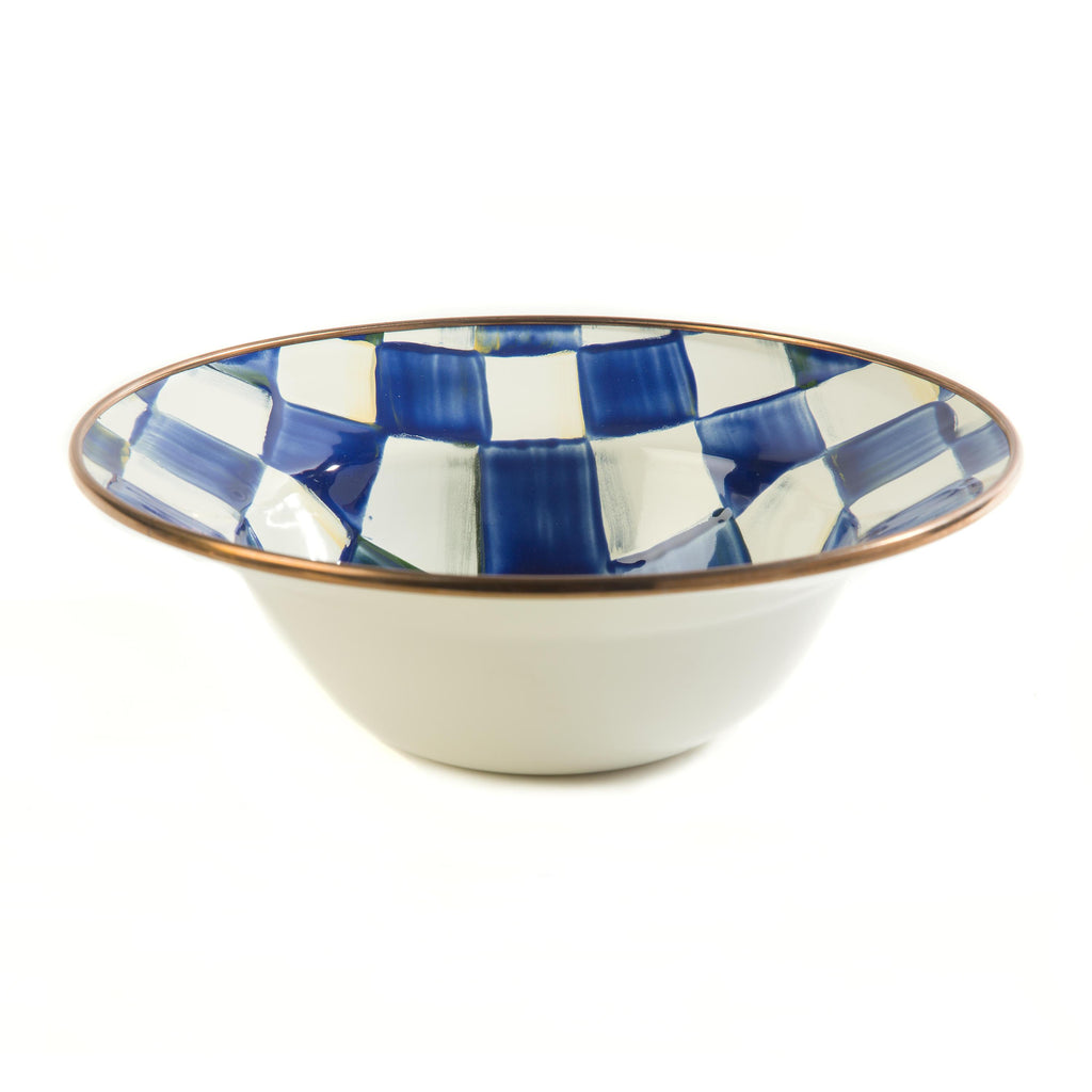 Mackenzie Childs Royal Check Breakfast Bowl 89203-240