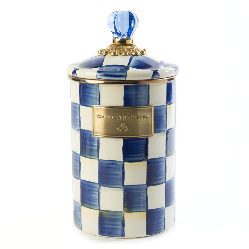 Mackenzie Childs Royal Check Canister Large 89226-240