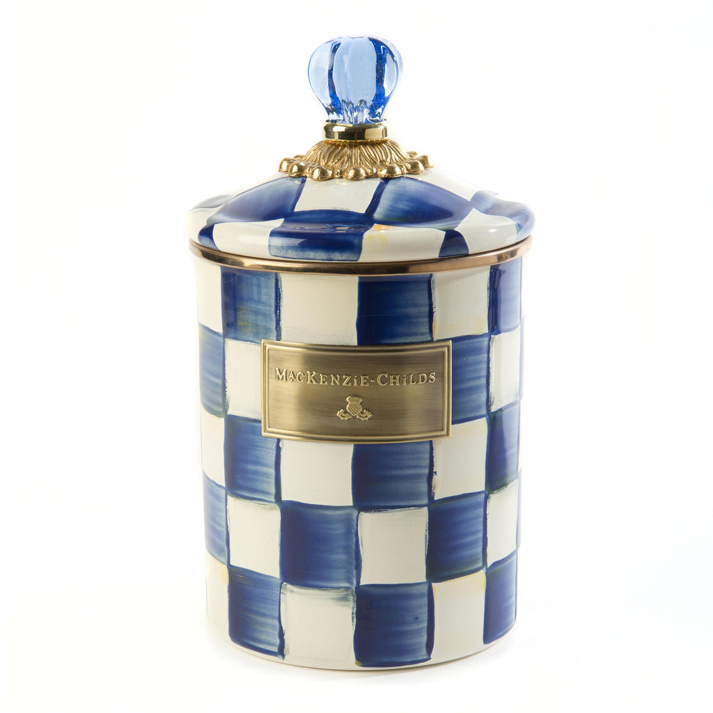 Mackenzie Childs Royal Check Canister Medium 89225-240