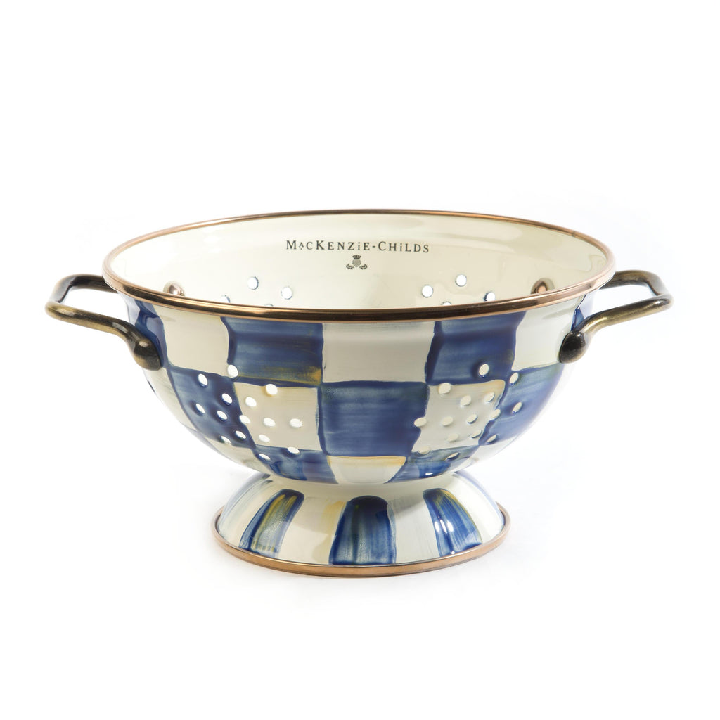 Mackenzie Childs Royal Check Colander Small 89233-240