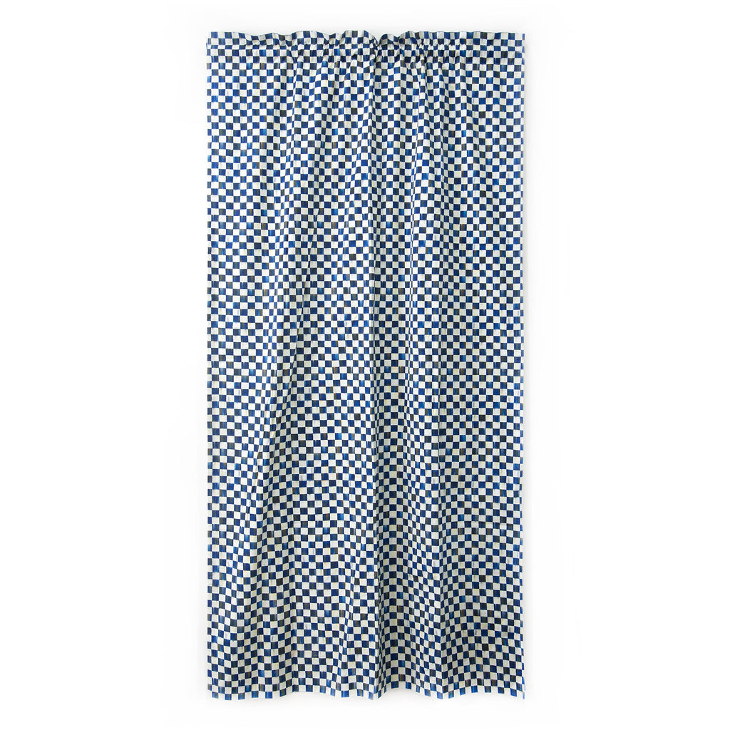 Mackenzie Childs Royal Check Curtain Panel 76185-240