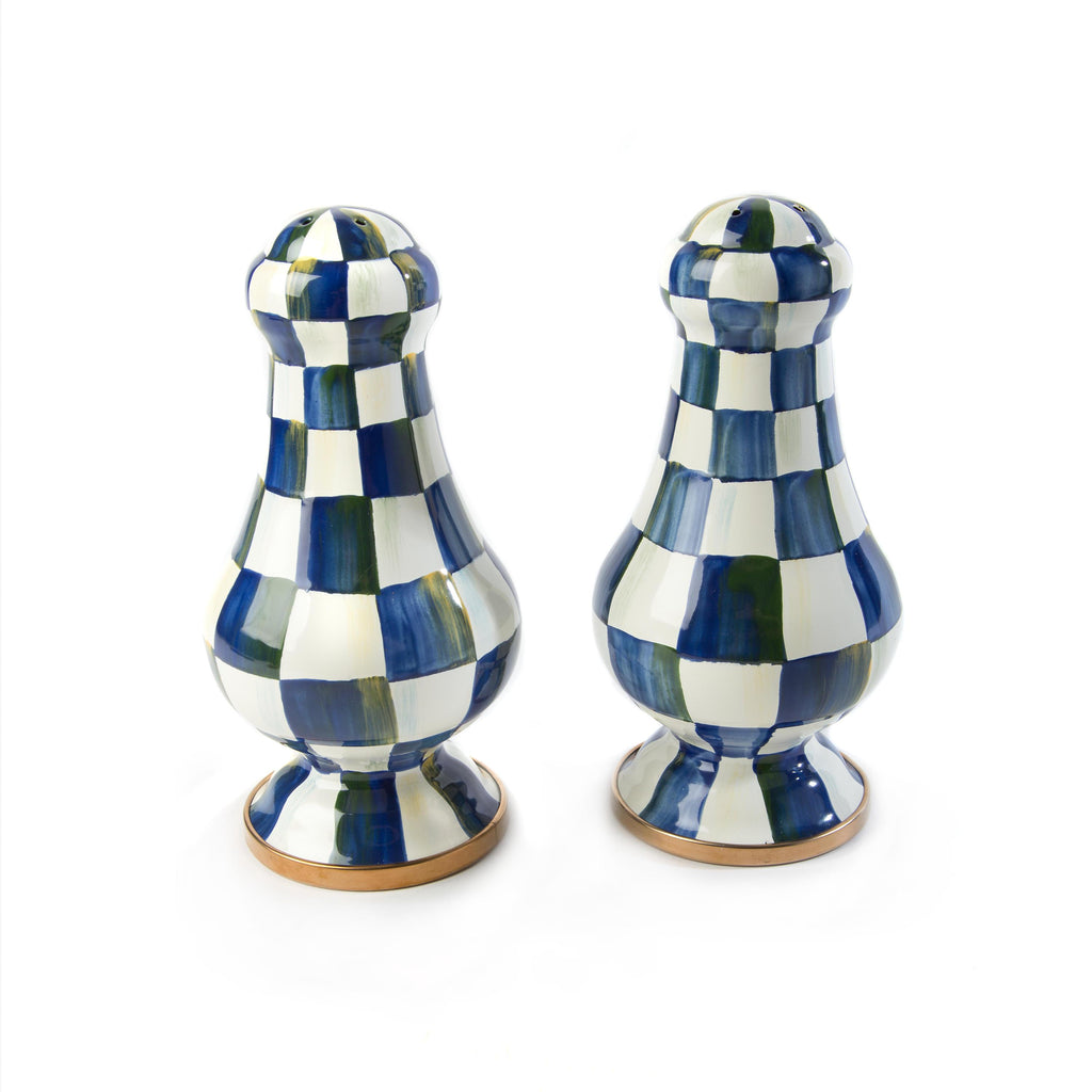 Mackenzie Childs Royal Check Large Salt and Pepper 89242-240