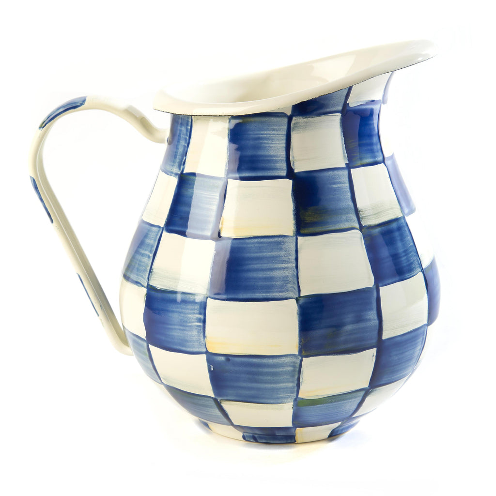 Mackenzie Childs Royal Check Pitcher 89238-240