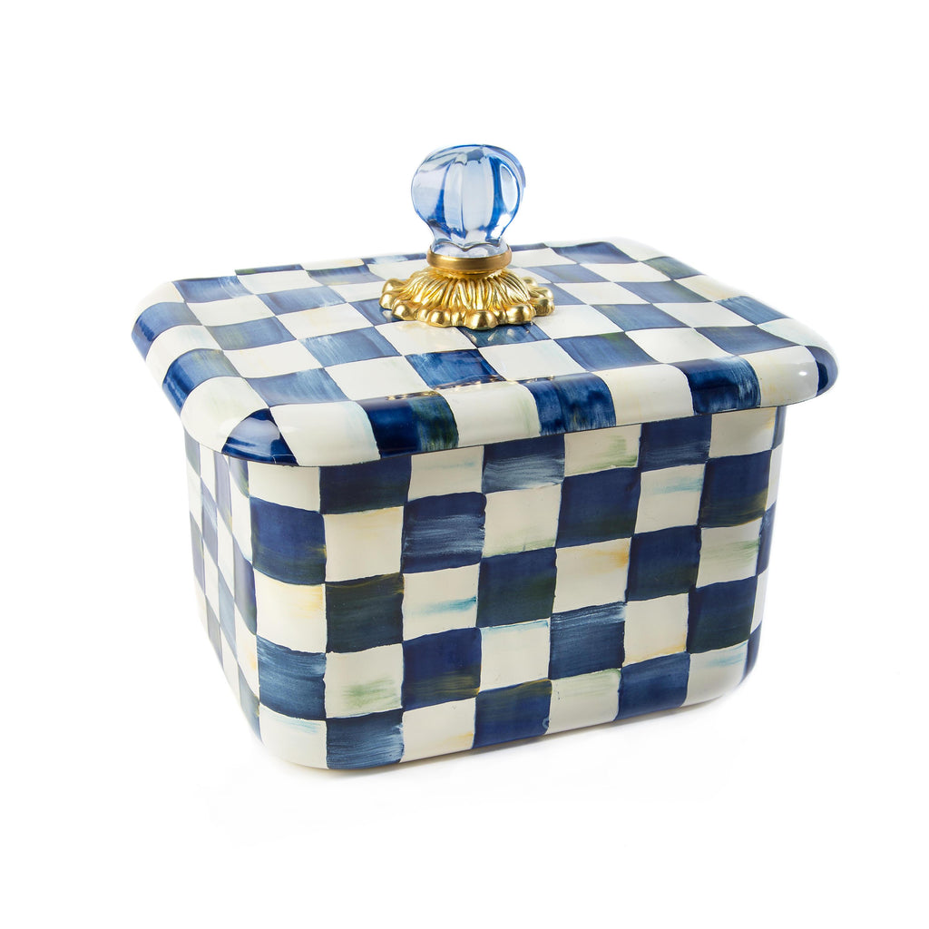 Mackenzie Childs Royal Check Recipe Box 89412-240