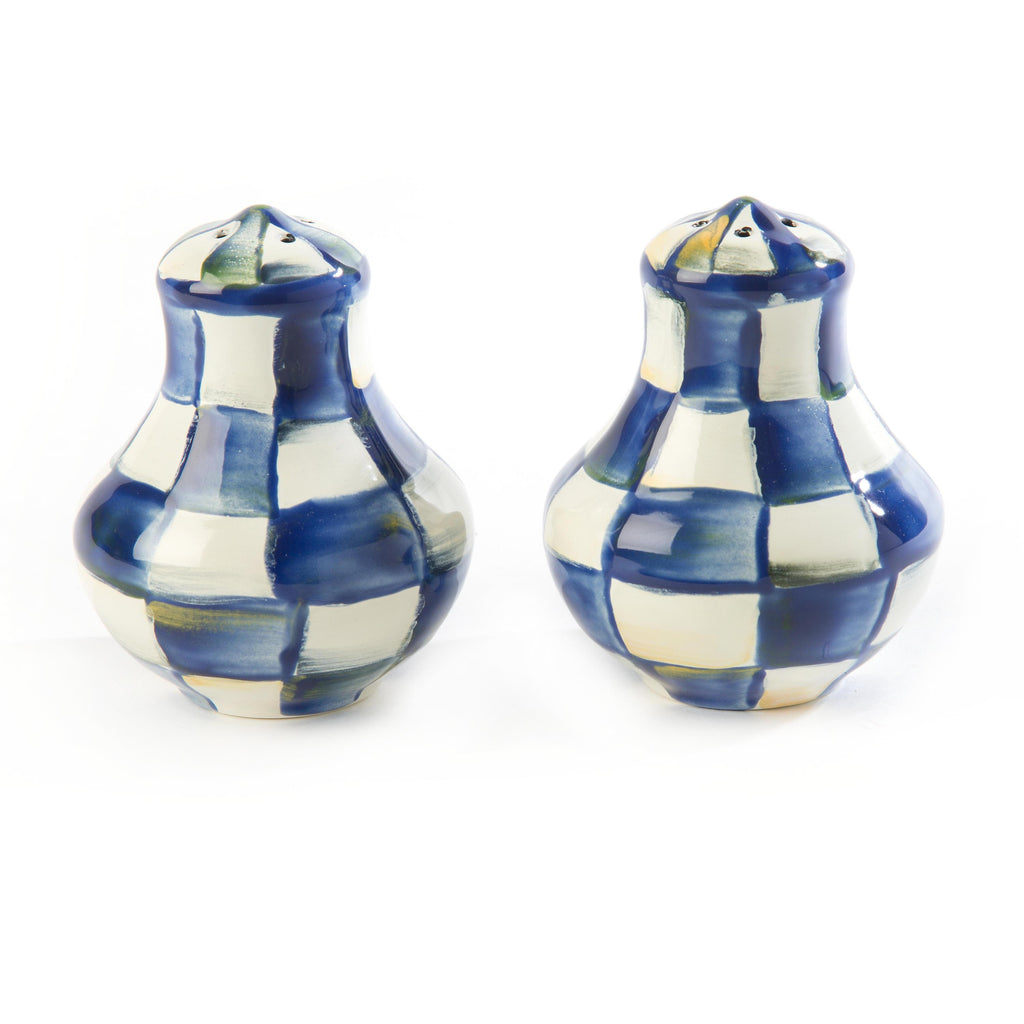 Mackenzie Childs Royal Check Salt and Pepper Shakers 89234-240