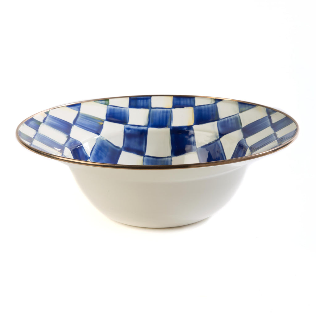 Mackenzie Childs Royal Check Serving Bowl 89220-240