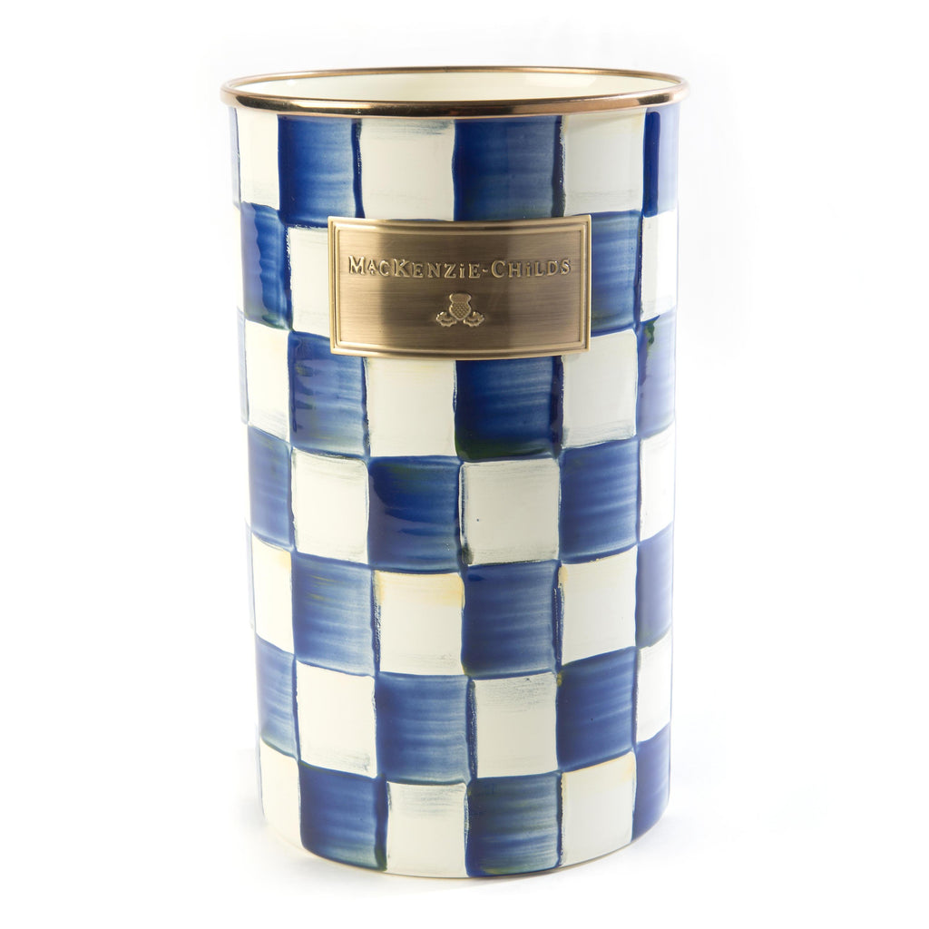 Mackenzie Childs Royal Check Utensil Holder 89605-240