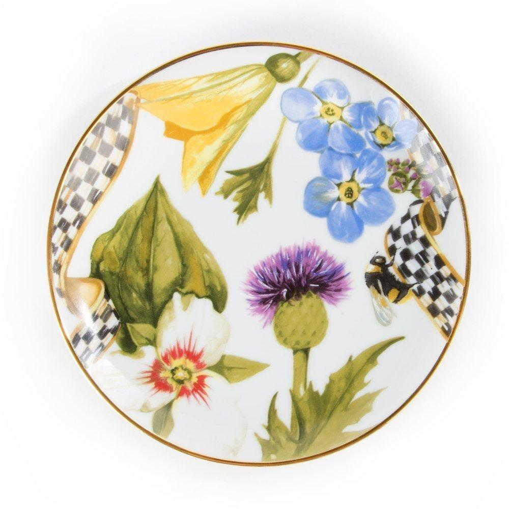 MacKenzie Childs Thistle & Bee Bread & Butter Plate