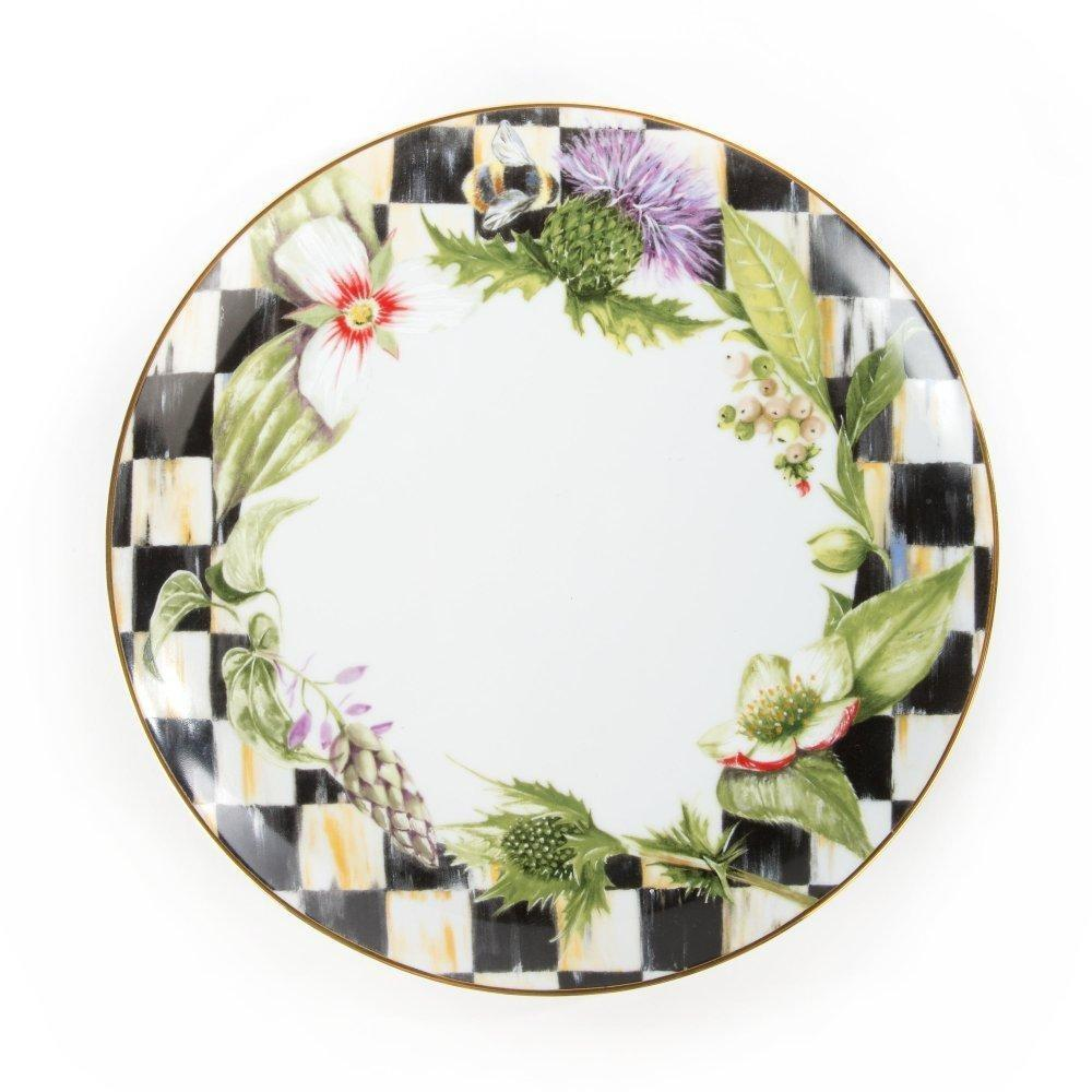 MacKenzie Childs Thistle & Bee Dinner Plate Garland