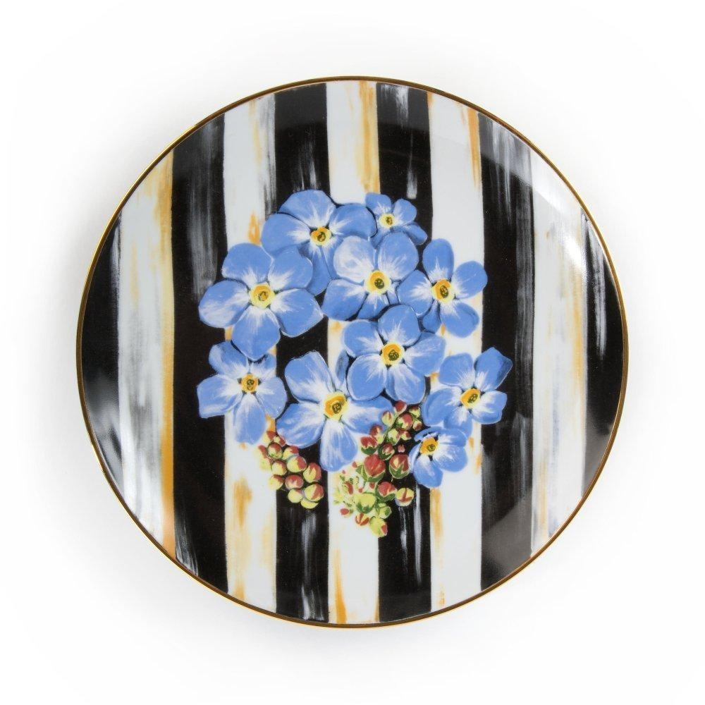 MacKenzie Childs Thistle & Bee Salad PlateForget-Me-Not