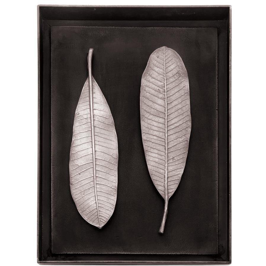 Michael Aram Champa Leaf Shadow Box Antique Nickel 176066