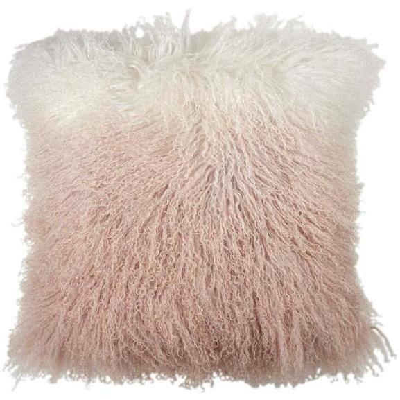 Michael Aram Dip Dye Curly Sheepskin Pillow Blush 2M00750XBH