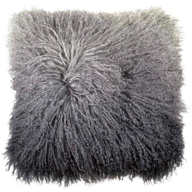 Michael Aram Dip Dye Curly Sheepskin Pillow Charcoal 2M00750XCK