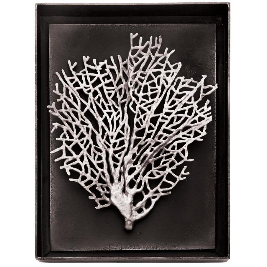 Michael Aram Fan Coral Shadow Box Antique Nickel 176067