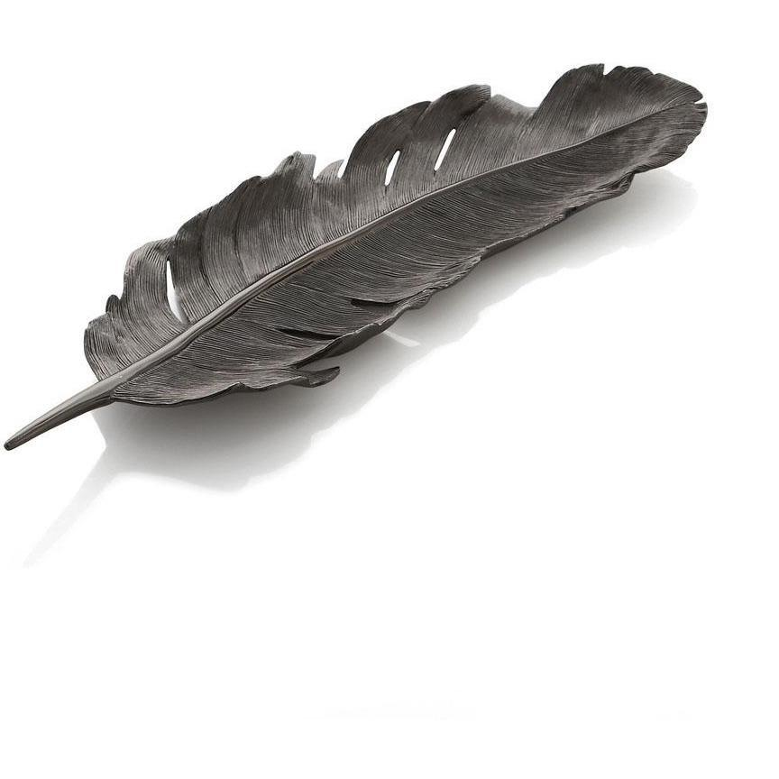 Michael Aram Feather Tray Black 133250